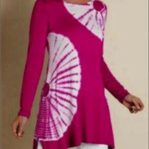 Soft Surroundings Tie Dye Tunic Pink Size Small